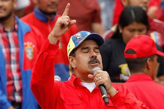 Президент Венесуэлы Николас Мадуро во время митинга в поддержку правительства страны в Каракасе, 2 февраля 2019 года