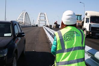 Строительство Крымского моста, апрель 2018 года