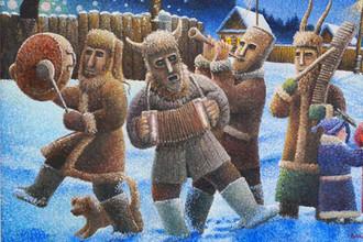 Фрагмент картины Владимира Буткова «Коляда, Коляда»