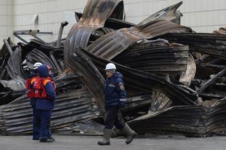 У торгового центра «Зимняя вишня» в Кемерово после пожара