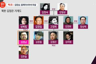 Семейное древо Кимов, показанное южнокорейским телеканалом Chosun