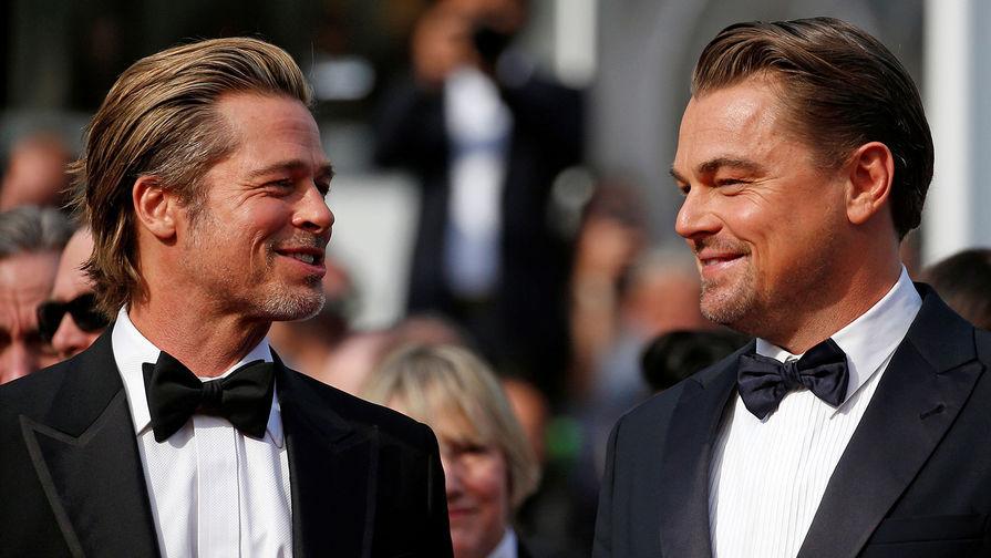 Актеры Брэд Питт и Леонардо ДиКаприо на премьере фильма Тарантино «Однажды... в Голливуде» в Каннах, 21 мая 2019 года