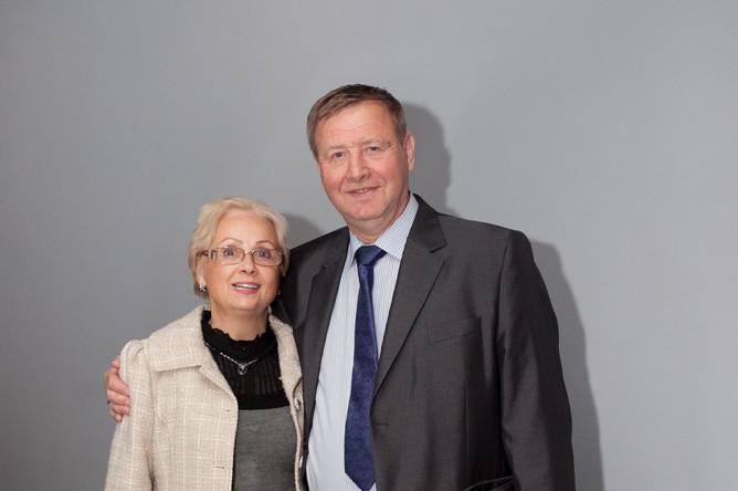 Легендарный хоккеист Юрий Ляпкин с женой Аллой