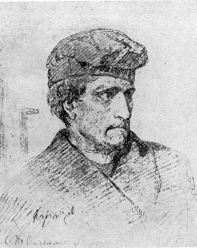 И.Е. Репин. Каракозов перед казнью. 1866 год