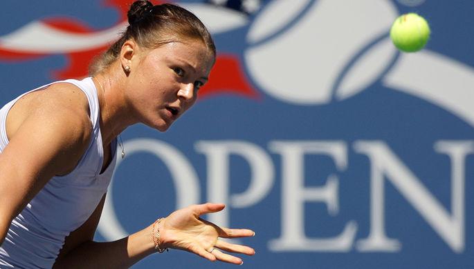 Американская теннисистка Кори Гауфф в матче Уимблдона.