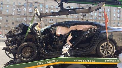 Опубликовано видео смертельной аварии на Кутузовском с BMW управделами президента