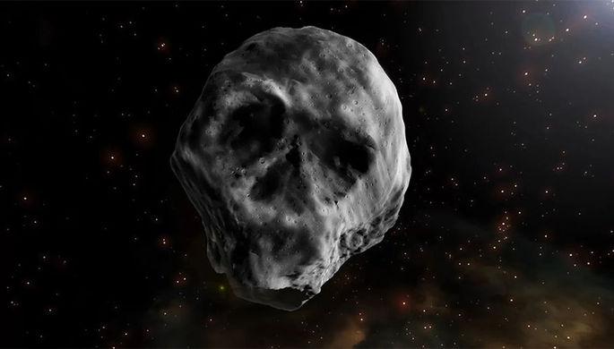 Астероид TB145, визуализация