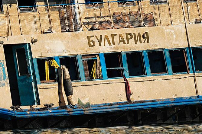 Подъем затонувшего теплохода «Булгария» на Куйбышевском водохранилище