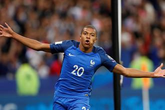 За сборную Франции в ворота Нидерландов Килиан Мбаппе забивал уже в статусе футболиста «ПСЖ»
