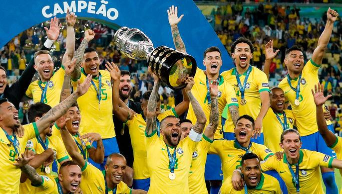 Кубок Америки — 2019. Сборная Бразилии празднует победу