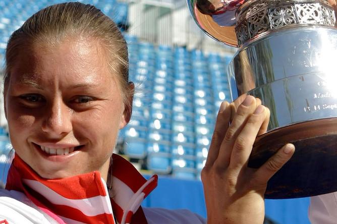 Вера Звонарева после победы на Кубоке Федерации, 2008 год