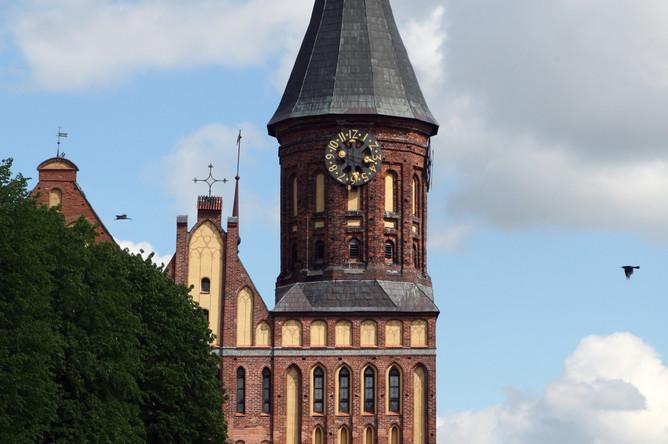 Кафедральный собор в бывшем историческом районе Калининграда — Кнайпхофе