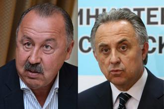 Валерий Газзаев (слева) готов сменить Виталия Мутко на посту президента РФС
