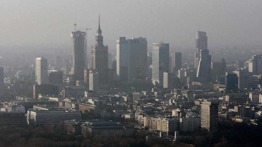 Вид на небоскребы Варшавы