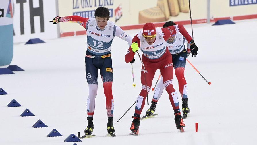 Йоханнес Клебо и Александр Большунов