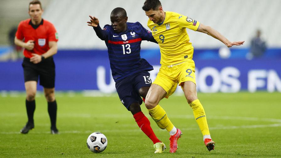 Эпизод матча Франция- Украина