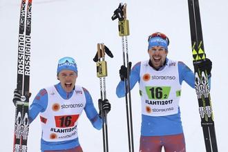 Никита Крюков и Сергей Устюгов — победители командного спринта на чемпионате мира