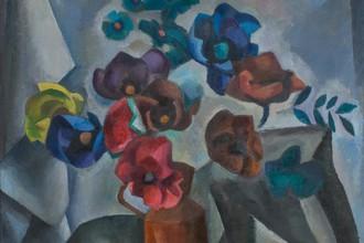 Бумажные цветы. 1915. Холст, масло. 105,5х89,5. Частное собрание