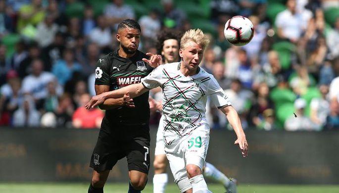Кристиан Тельо празднует гол в ворота московского «Спартака» в Лиге чемпионов