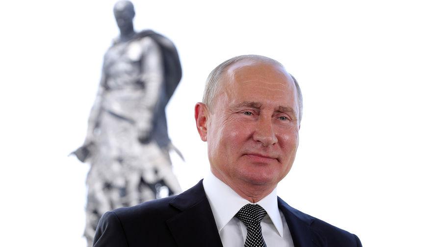 Процесс съемки обращения Путина попал на видео