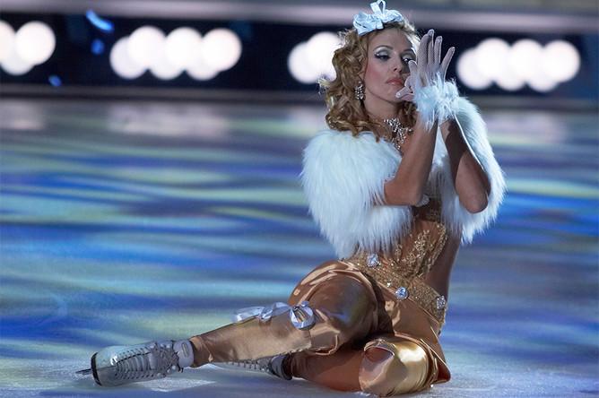 Татьяна Навка на съемках телепроекта «Ледниковый период», 2007 год