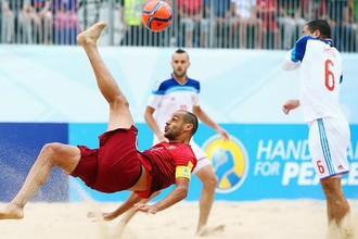 Россия против Португалии на чемпионате мира по пляжному футболу