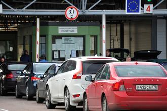 Таможенный пост «Торфяновка» на российско-финляндской границе