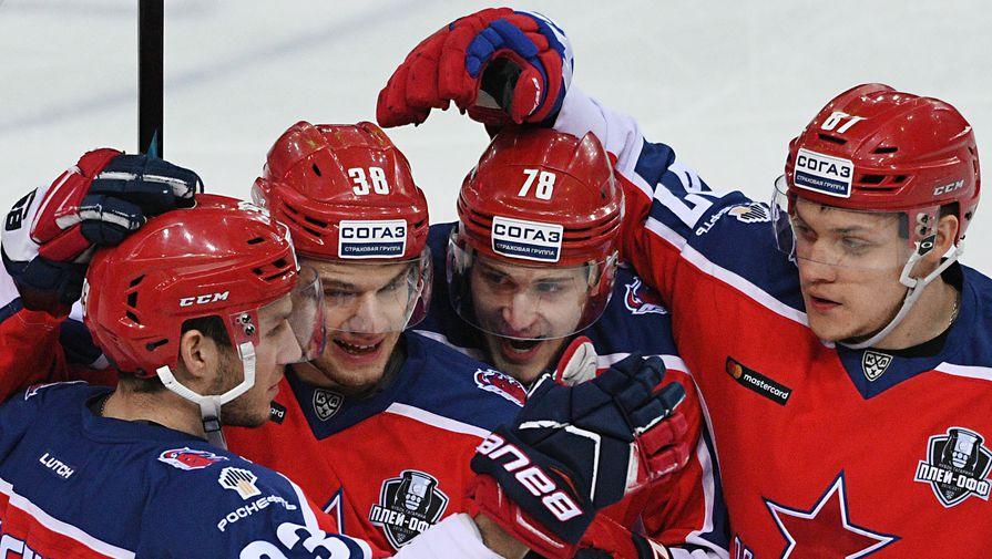 Хоккеисты московского ЦСКА