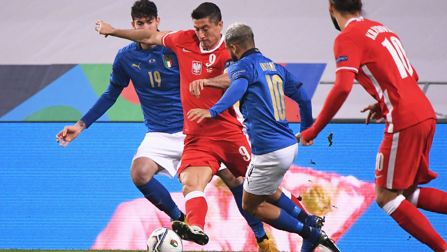 эпизод матча Польша- Италия