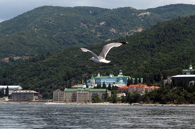 Монастырь Святого Пантелеимона (Русский на Афоне Свято-Пантелеимонов монастырь) — один из двадцати мужских православных монастырей на Святой горе Афон. На своем нынешнем месте у моря обитель появилась после 1765 года. До этого она находилась в другом месте, дальше от побережья