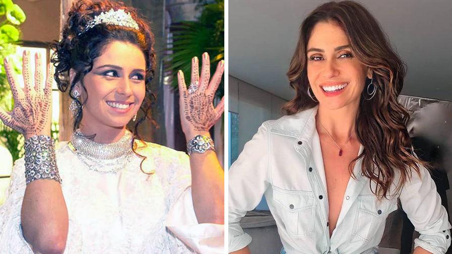 Джованна Антонелли в кадре из сериала «Клон» в 2001 году и в 2020 году (коллаж)