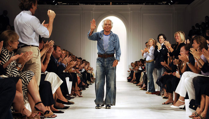 Дизайнер Ральф Лорен на показе своей коллекции, 2005 год