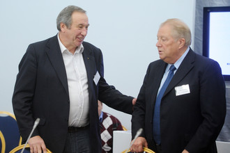 Президент ФТР Шамиль Тарпищев и почетный президент ОКР Виталий Смирнов