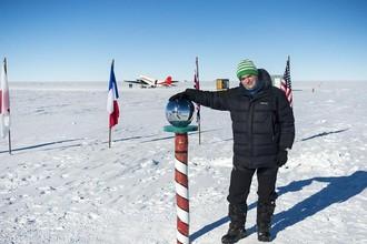 Сергей Доля на Южном полюсе