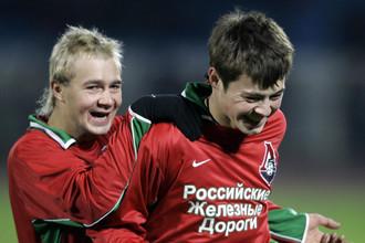 Дмитрий Сычев и Динияр Билялетдинов — авторы голов в «золотом» матче с «Шинником» в 2004 году