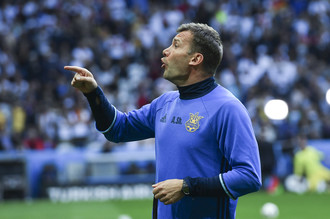 Тренер сборной Украины Андрей Шевченко