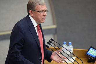 Председатель Счетной палаты России Алексей Кудрин во время слушаний на тему «Совершенствование пенсионного законодательства» в Госдуме, 21 августа 2018 года