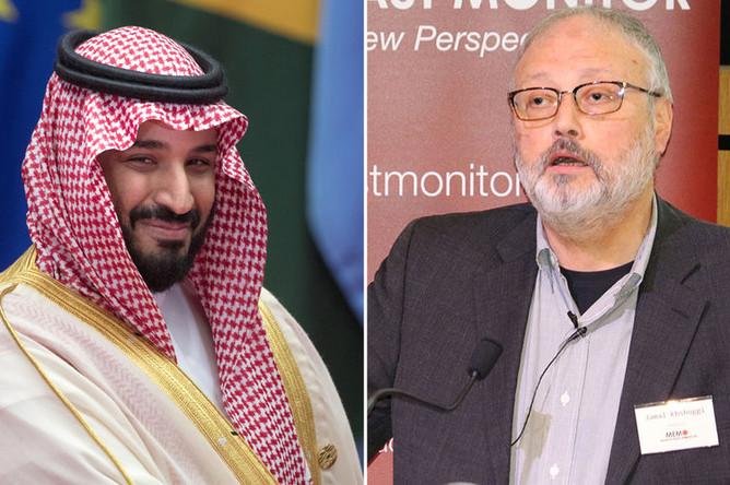 Мухаммед бин Салман Аль Сауд и журналист Джамаль Хашукджи