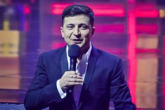 Кандидат в президенты Украины Владимир Зеленский во время концерта студии «Квартал-95» в Киеве, 13 марта 2019 года