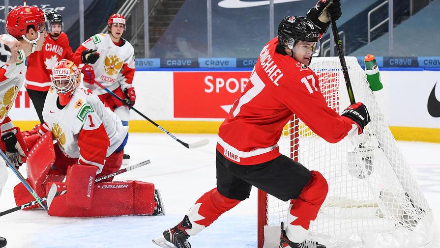 эпизод матча Россия- Канада на МЧМ-2021