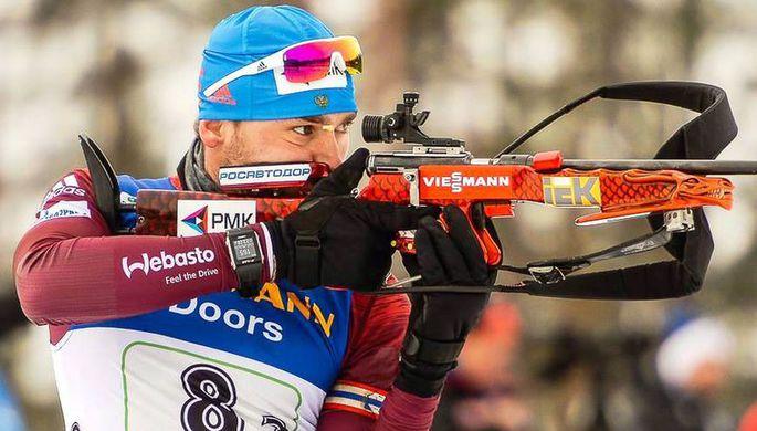 Российский биатлонист Антон Шипулин