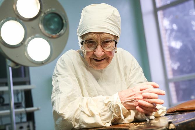 Алла Левушкина в хирургическом отделении Рязанской городской клинической больницы №11, 2017 год