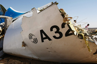 Обломки самолета Airbus A321