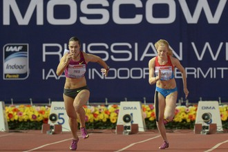 Украинская бегунья Олеся Повх и россиянка Кристина Сивкова