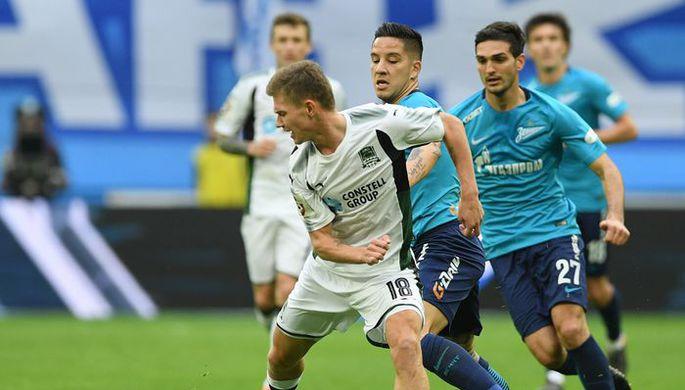 Олег Шатов забил «Зениту» и получил травму