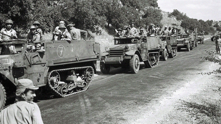 Бронетехника 8-й бригады армии Израиля, октябрь 1948 года