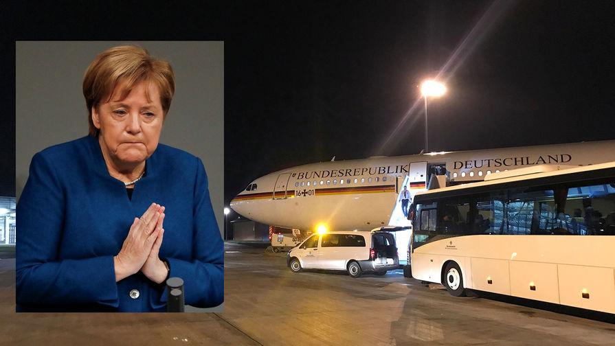В ФРГ назвали причину незапланированной посадки лайнера Меркель