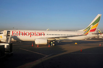 Самолет Boeing 737-800 авиакомпании Ethiopian Airlines, 2017 год