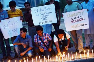 Жители Пакистана вышли на митинг, извиняясь перед семьями погибших