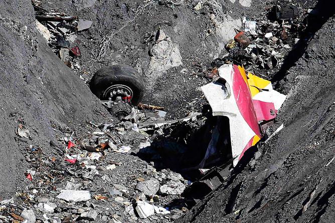 Работы на месте крушения самолета Airbus A320 авиакомпании Germanwings